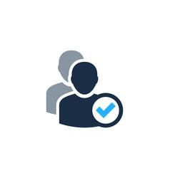 check user logo icon design vector image