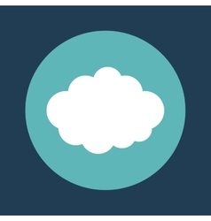 Cloud emblem on blue background icon image vector
