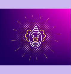 Clown line icon amusement park funnyman sign vector