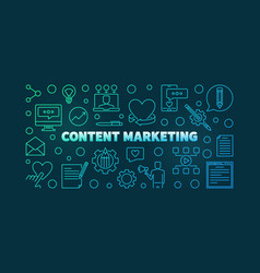 content marketing colored outline vector image