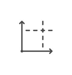 Coordinate line icon vector