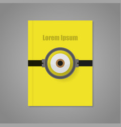 Cover of yellow background with an eye vector