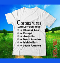 Covid 19coronavirus world tour tshirts design vector