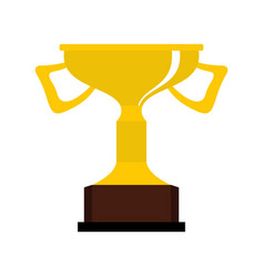 Cup for victory icon flat style vector