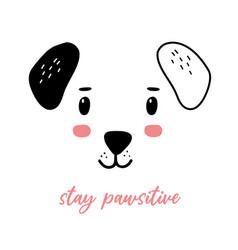 dog print design with slogan vector image
