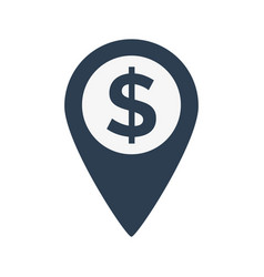 dollar map marker icon vector image