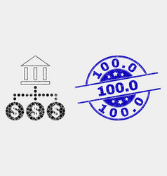 dotted bank hierarchy icon and distress 100 vector image
