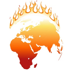 east on fire vector image