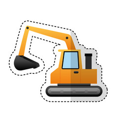 excavator machine isolated icon vector image