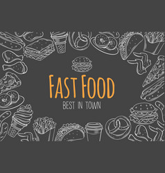 fast food layout vector image