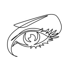 Female eye continuous line vector