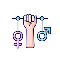 Feminism rgb color icon vector