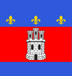 Flag of castellane in alpes de haute provence is vector
