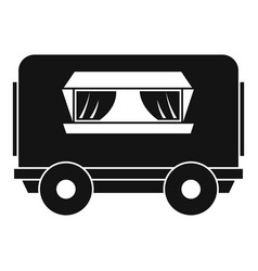 Food trailer icon simple style vector