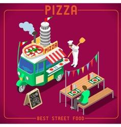 Food Truck 05 Vehicle Isometric vector image
