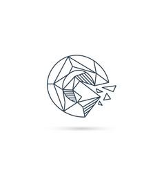 Gemstone letter g logo design icon template vector