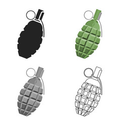 grenade icon cartoon single weapon icon from the vector image