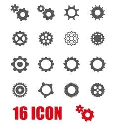 grey gear icon set vector image