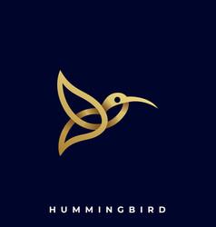humming bird template vector image