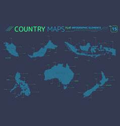 indonesia australia new zealand malaysia and vector image