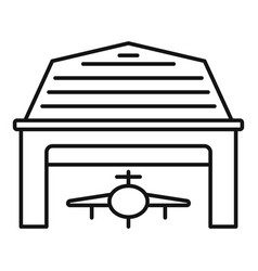 Industry military hangar icon outline style vector