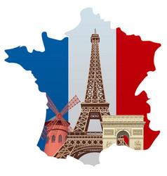 landmarks of france vector image