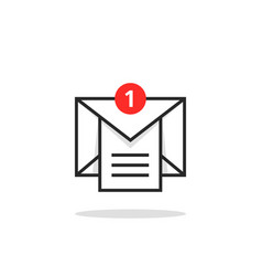 Linear email like inbox notice logo vector