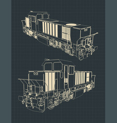 locomotive drawings vector image