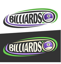 logos for billiards game vector image