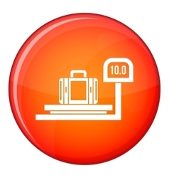 Luggage weighing icon flat style vector