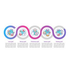 Magic spells infographic template business vector
