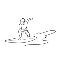 Man playing surfboard on the wave vector