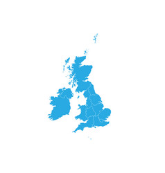 Map of united kingdom high detailed map - united vector