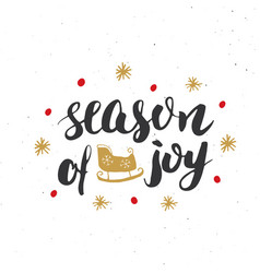 merry christmas calligraphic lettering season of vector image