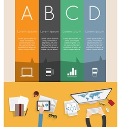 Modern infographic with business meeting vector