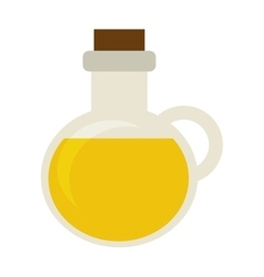 olive oil bottle icon vector image