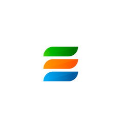 Paint letter e logo icon design vector