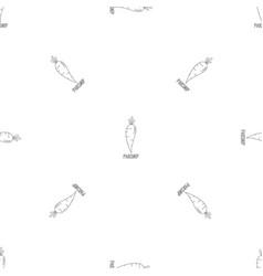 parsnip pattern seamless vector image