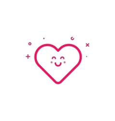 pink icon in flat line vector image vector image