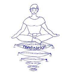 Pleasant meditation vector