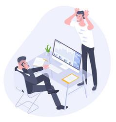 Professional work conflict vector
