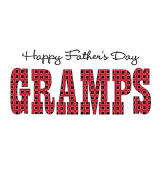 Red bandana gramps happy fathers day vector