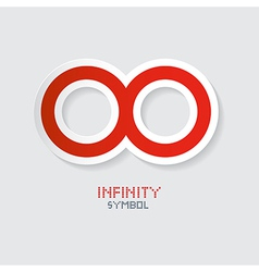 Red Paper Infinity Symbol vector image