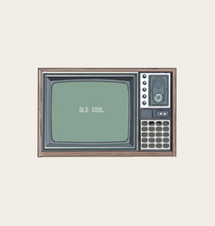 retro tv television sketch vector image