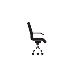 rolling armchair black concept icon vector image