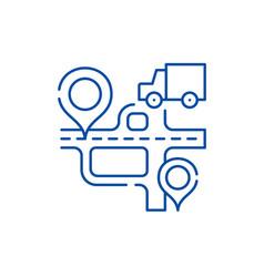 route navigation line icon concept route vector image