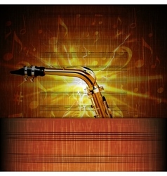 Saxophone Close-up on the shining sheet music vector
