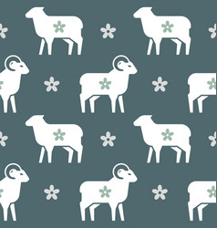 seamless pattern on theme farming vector image