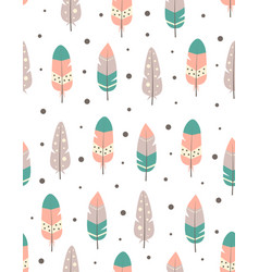 seamless pattern with boho tribal colorful vector image