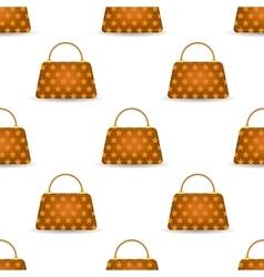 Seamless Womens Orange Handbags vector